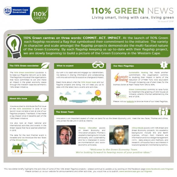 110% Green Newsletter - 1st Issue of 2016