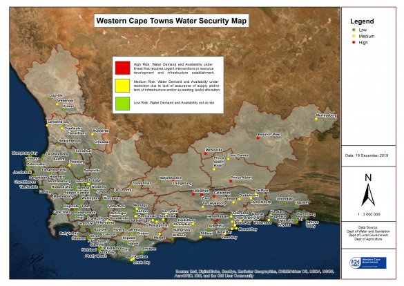 Western Cape Municipal Drought status