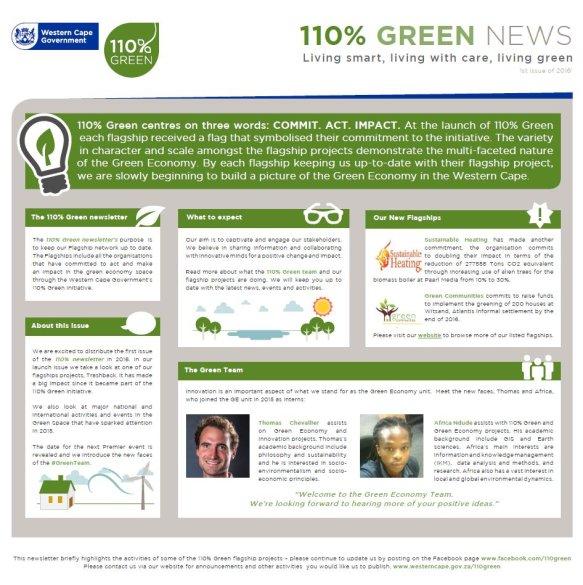 110% Green Newsletter - 1st Issue of 2016
