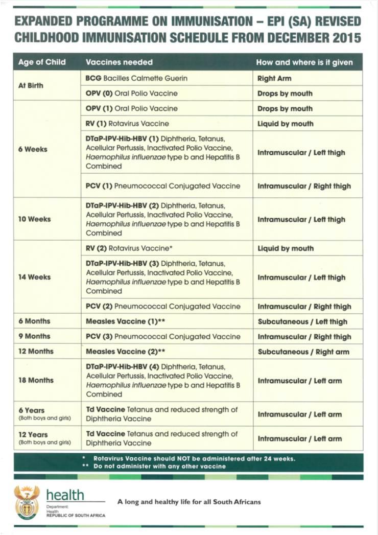 EPI Schedule