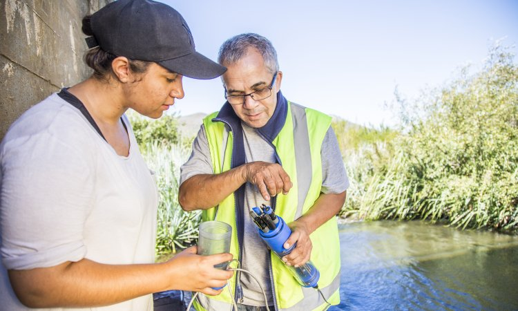 Checking water quality of Breede River