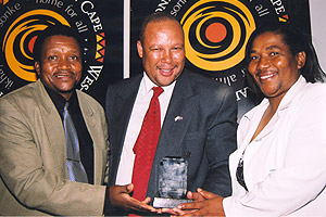 Minister Jacobs with some of the winners