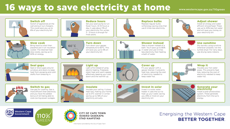 16 Ways to save electricity
