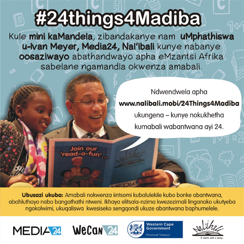 Minister Meyer spent his 67 minutes reading and telling stories to the youth to inspire, entertain and educate