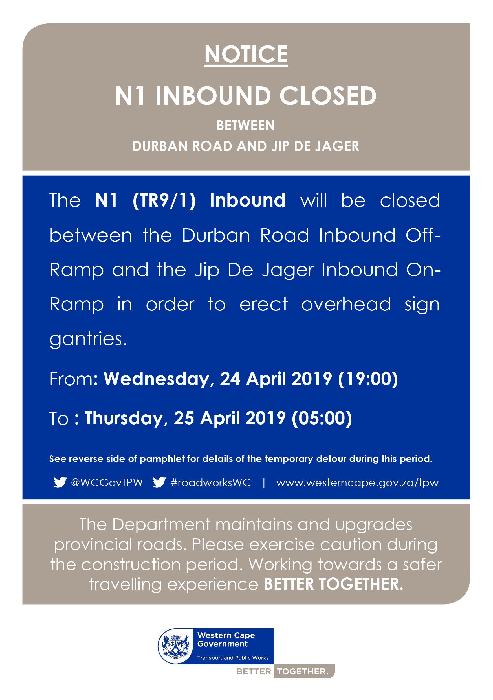 N1 Notice 24 April