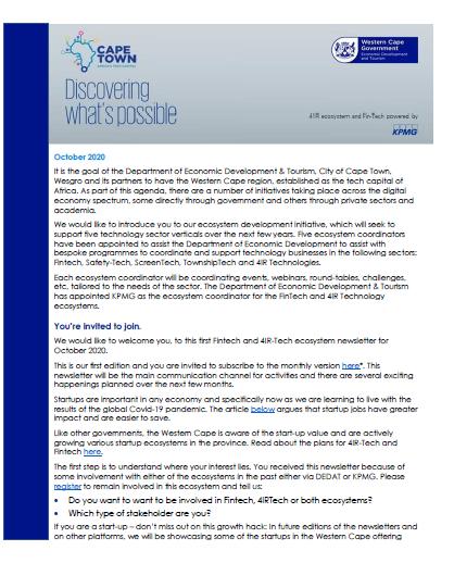 4IR_Fintech_newsletter_october2020