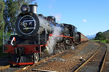 a steam train