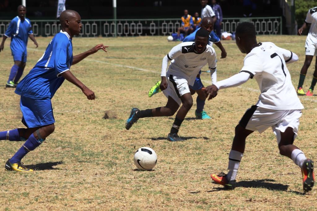 A tight match between Mbekwini Sport Centre VS Drakenstein Medium A team.