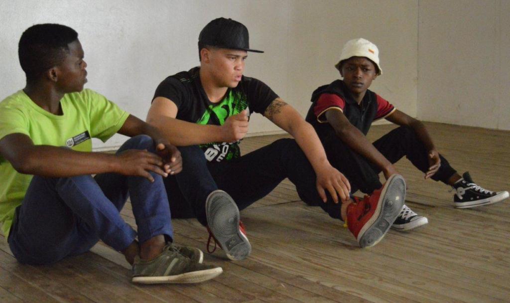 Actors working on scenes during the workshop