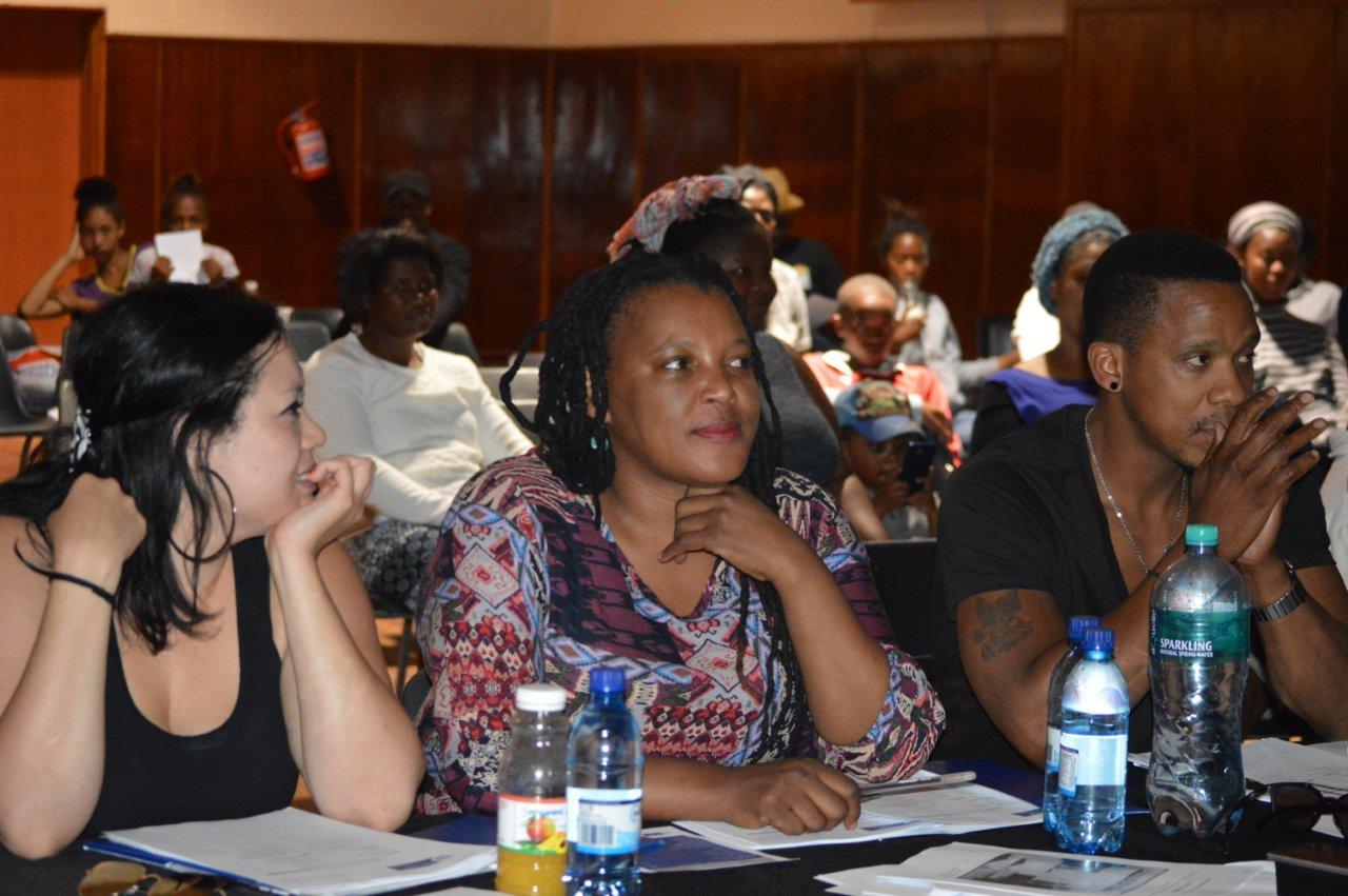 Adjudicators Lauren, Zoleka and Bongi represented the Zabalaza Team from the Baxter Theatre Centre at the Eden Drama Festival