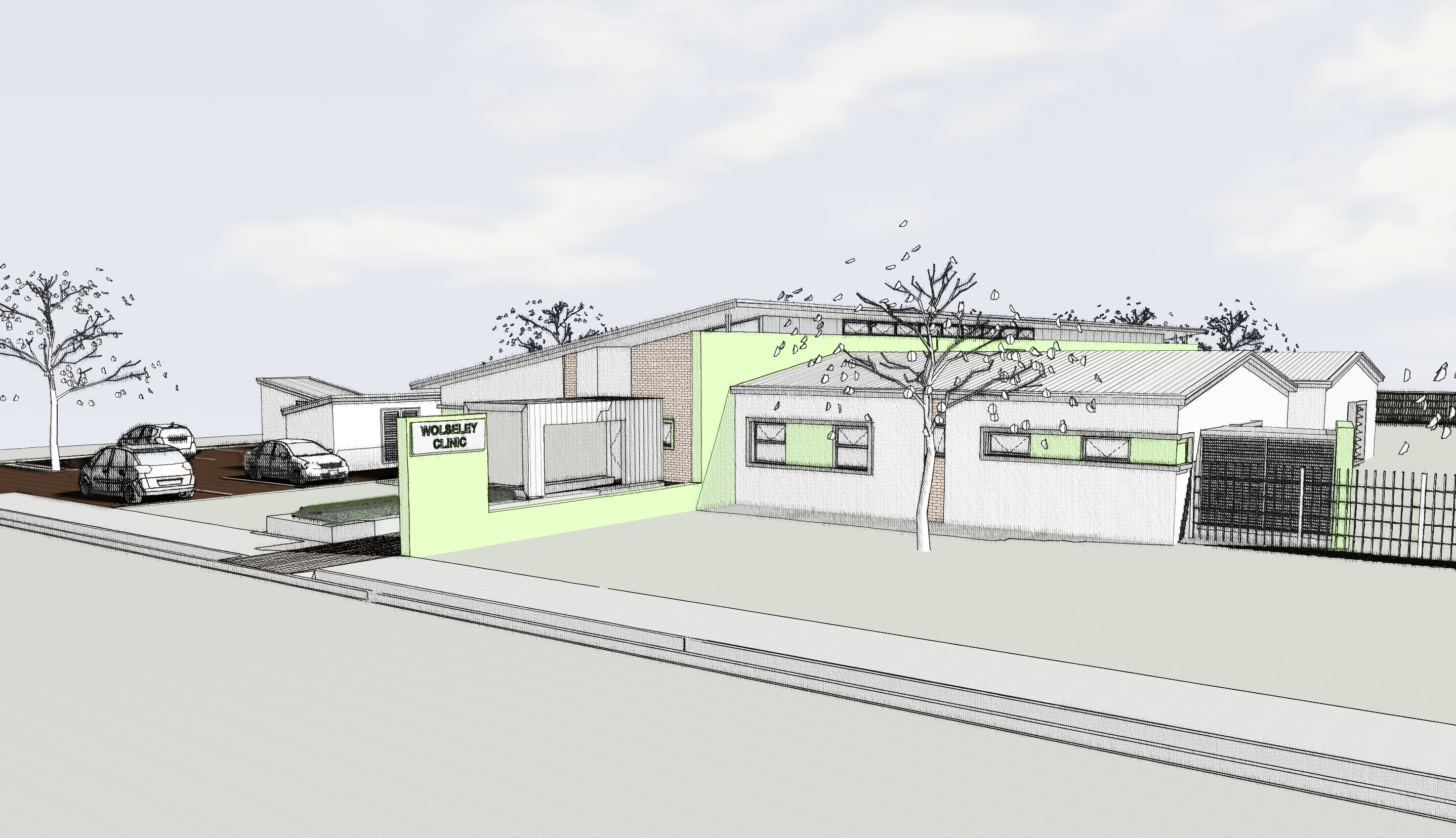 An artist's impression of a community day centre.