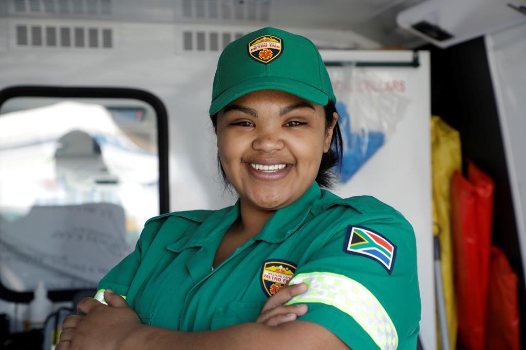 Aqeelah Kelderman, EMS practitioner, Western Cape Government Health