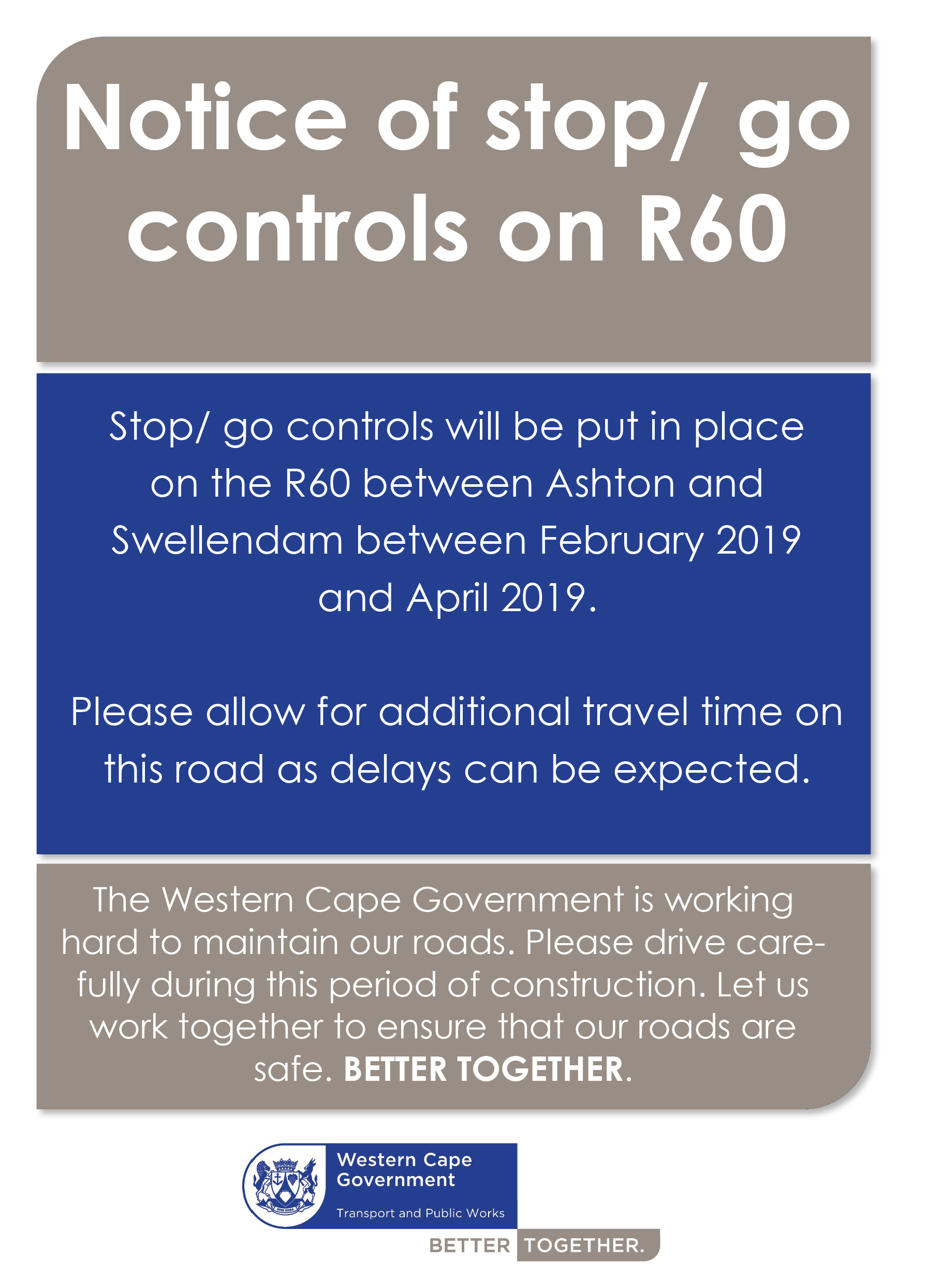 R60 roadworks