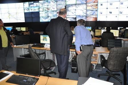 Minister views the ASOD screen