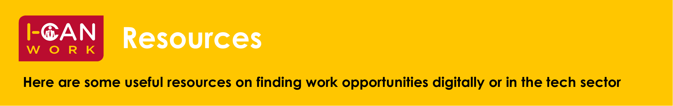 Banner directing you to companies that can assist with finding work opportunities