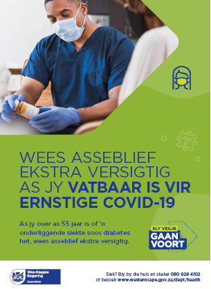 Be extra careful if you are at risk of severe Covid-19 Afrikaans