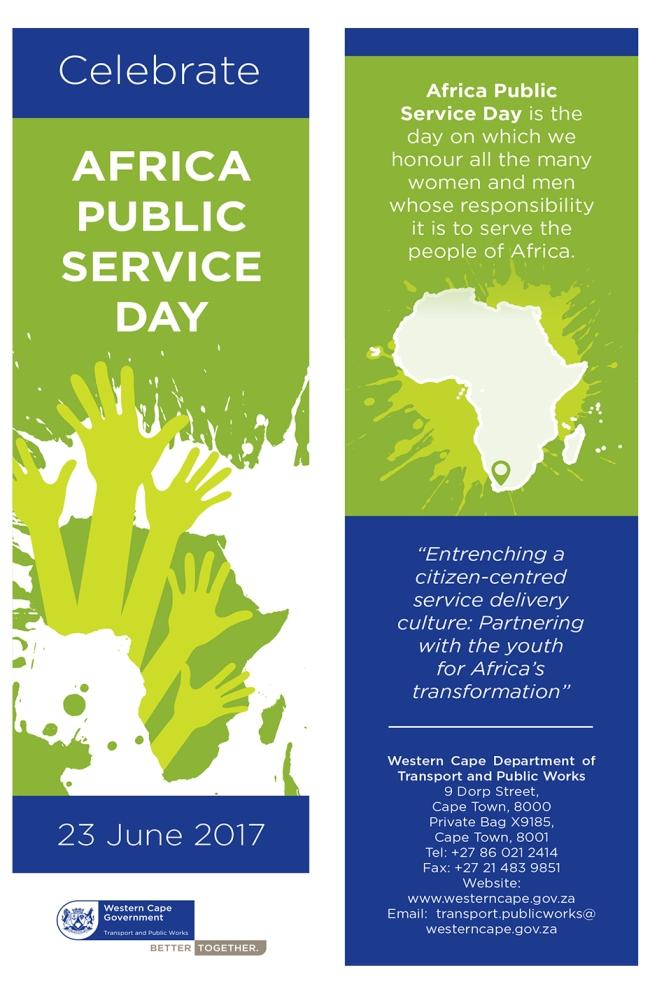Africa Public Service Day bookmark