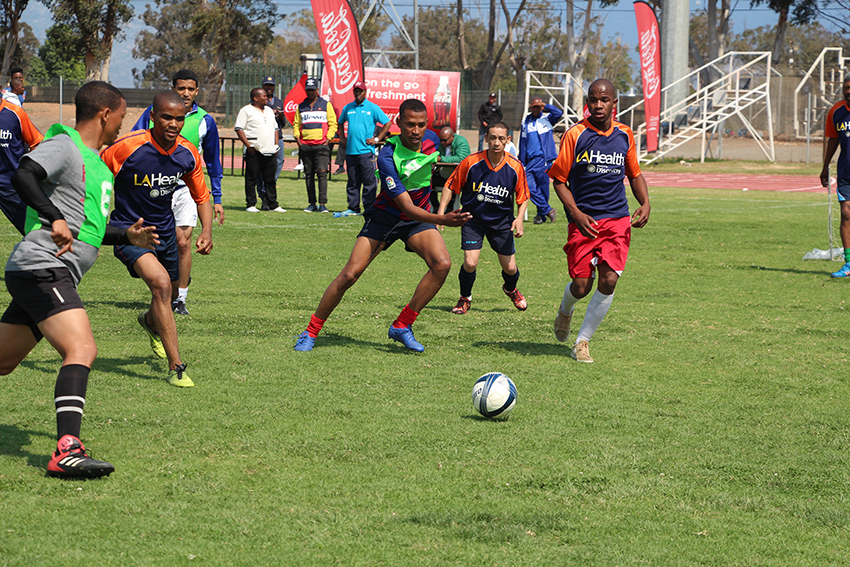 Breedevalley Municipality took on DCAS in an exciting soccer match at the Cape Winelands BTG