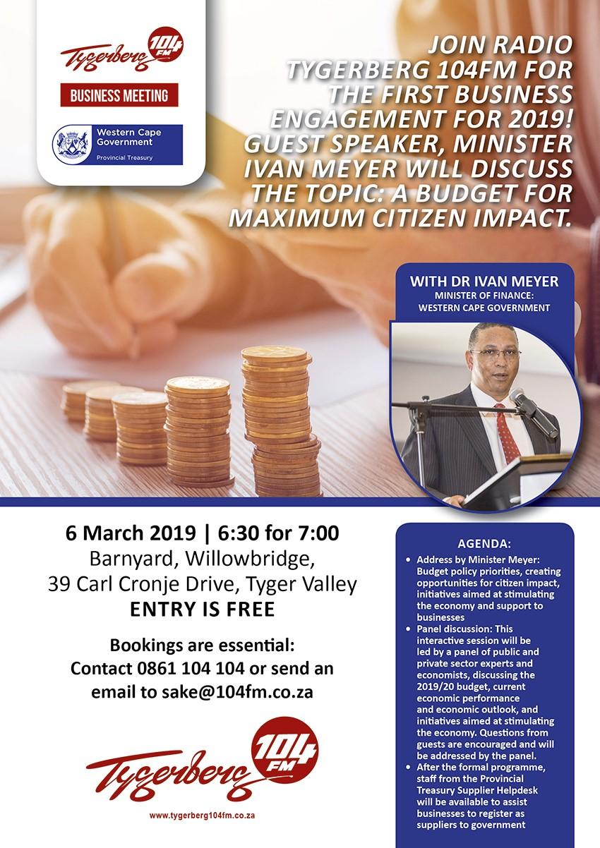 budget breakfast on 6 March