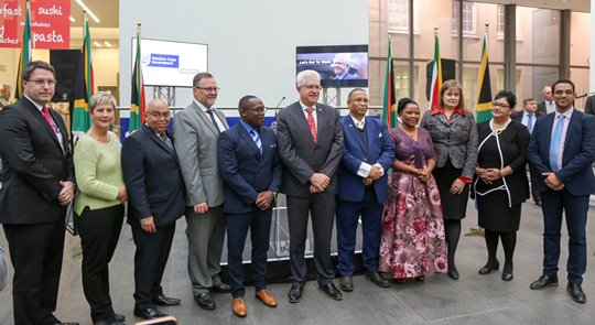 A group photo of the Members of the cabinet after being announced by Premier Alan Winde