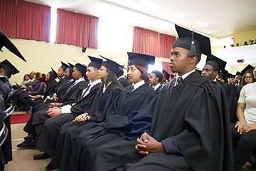 Learners at Cape Academy graduation.