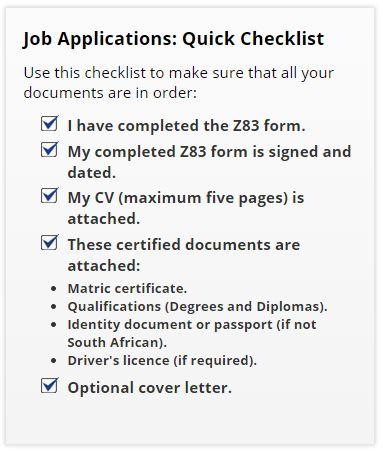 WCG Jobs Checklist