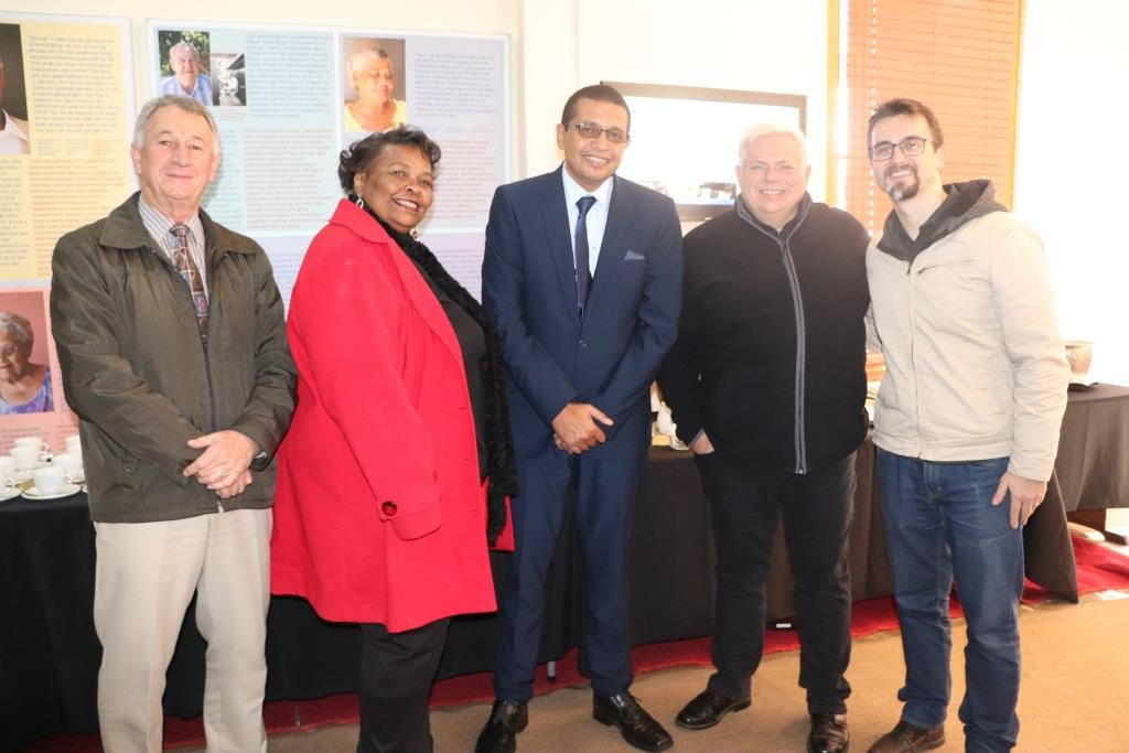 Cllr Kobus du Plessis, Cllr Elizabeth Sedego, Executive Mayor Cllr Benito Klaasen, Chairperson of Board of Trustees, Nick van Huyssteen and Michael Janse van Rensburg at the launch in Tulbagh