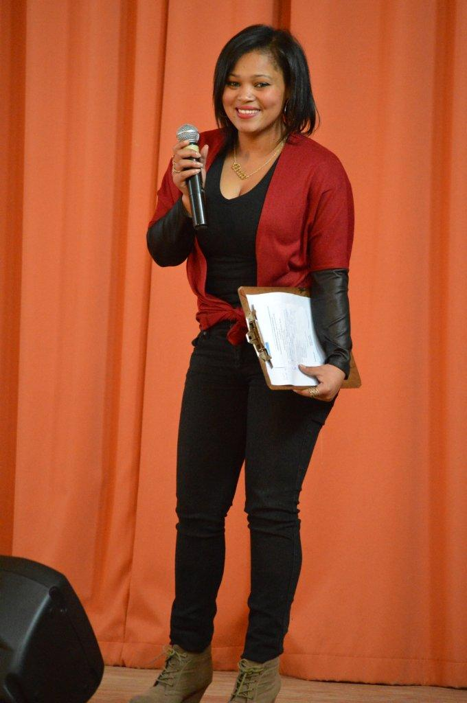 DCAS 2014 prize winner Sheline Bothma was MC for the event in her hometown