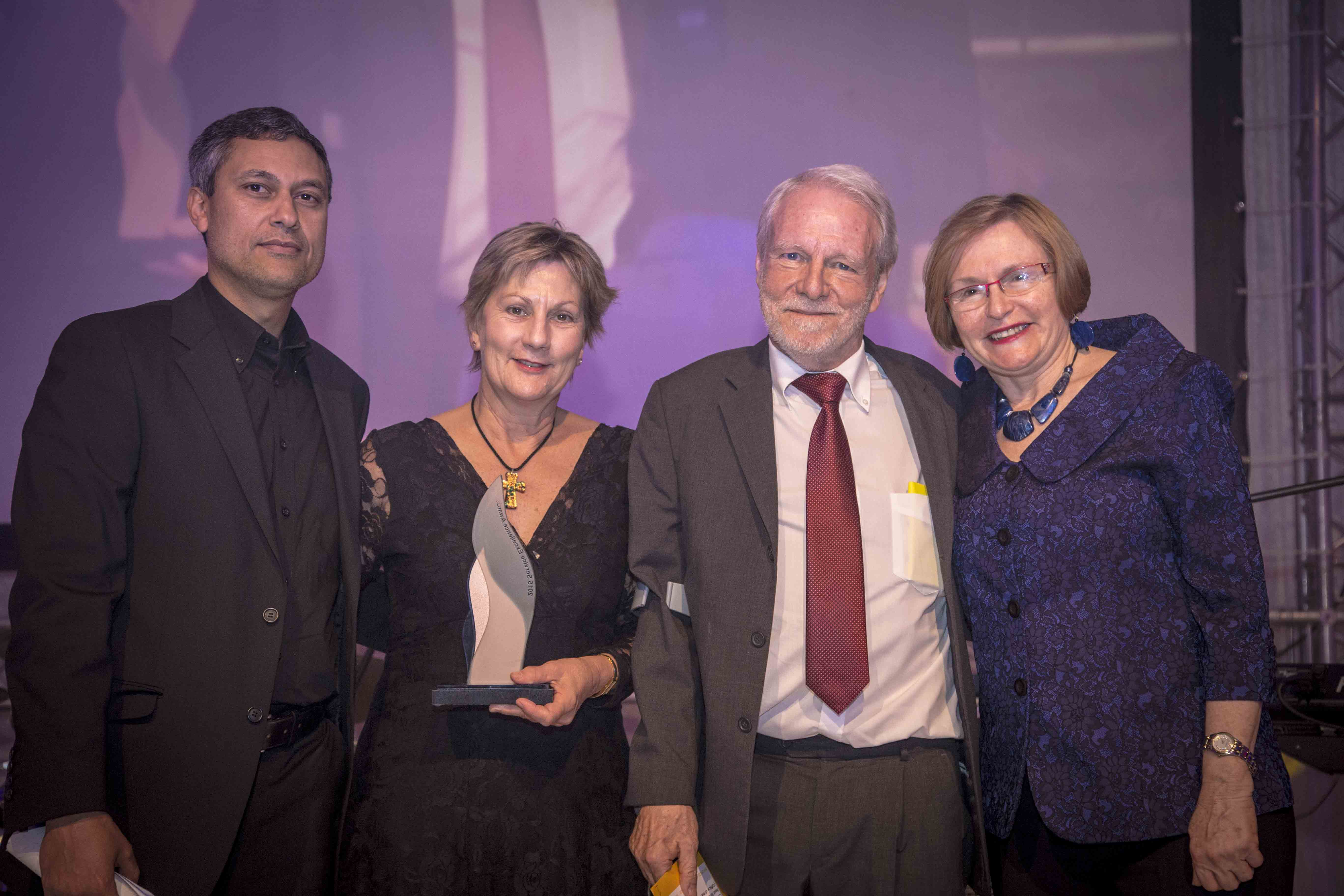 Devero Flandorp and Minister Anroux Marais accepted the award on behalf of DCAS
