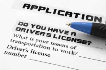 Driver's licence application