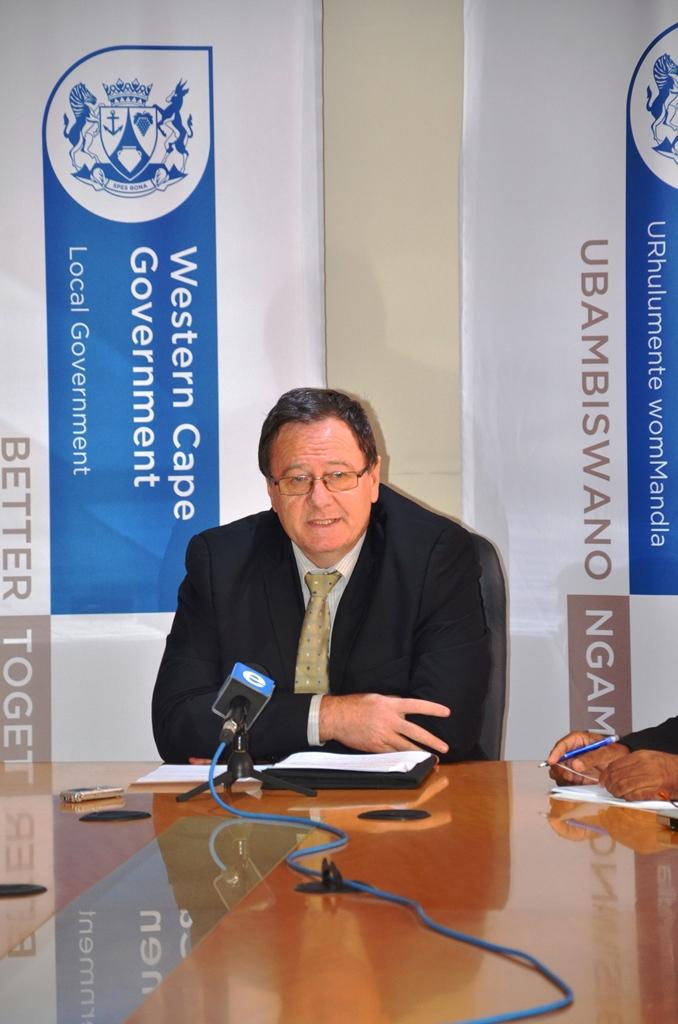 Oudtshoorn media briefing