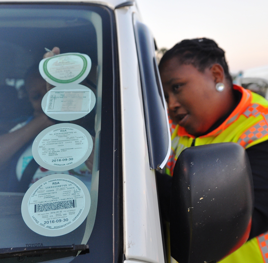 DTPW runs its public transport sticker operation at the various checkpoints.