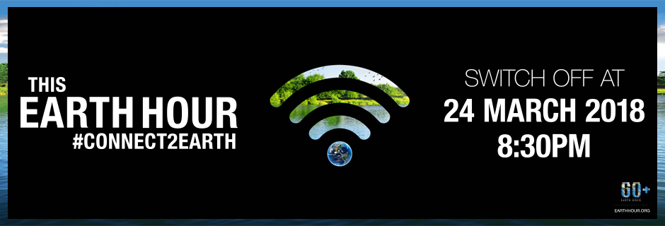 Earth Hour 2018 banner