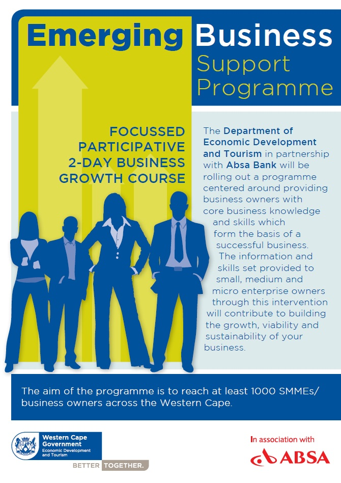 Emerging Business Support Programme Flyer