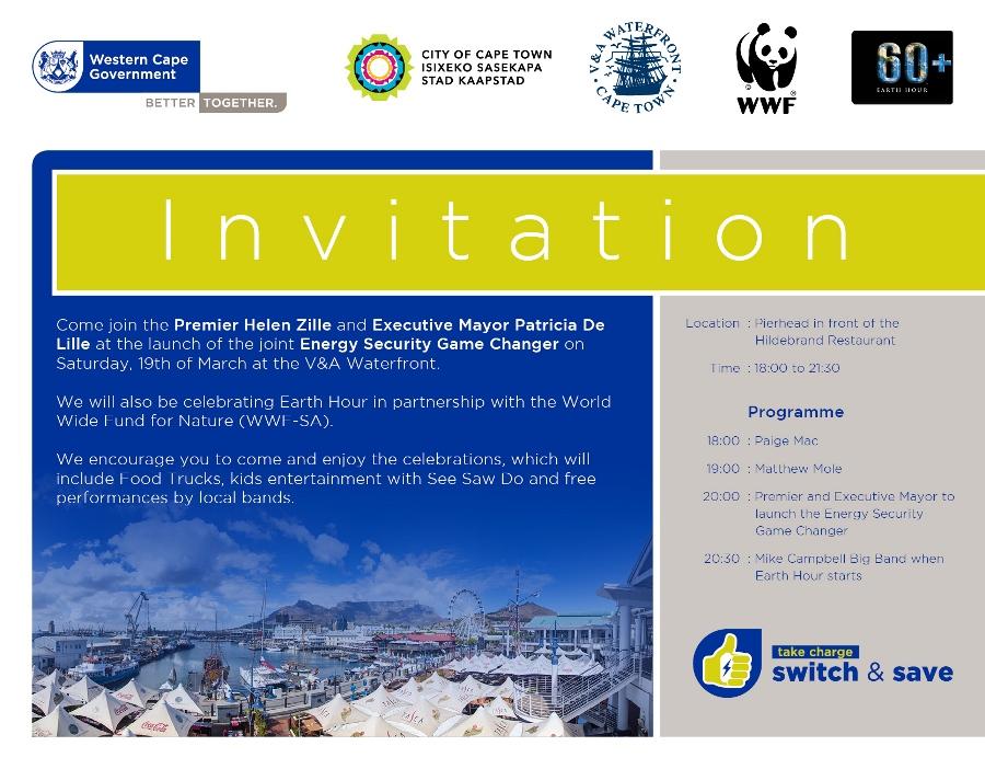 Energy event launch invitation