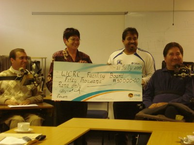 ESKOM hand over R50 000 to Western Cape Rehabilitation Centre (WCRC)