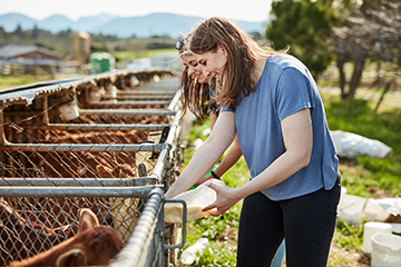 Female goat farmer.