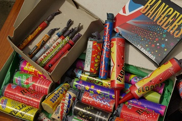 Fireworks in a box