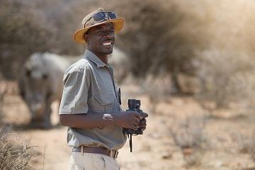 Smiling game ranger