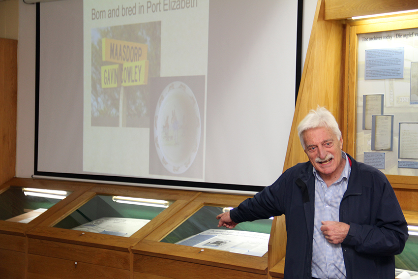 Gavin Cowley presented his reflection on a genealogical journey at the launch of the annual Archives Awareness Week in Cape Town