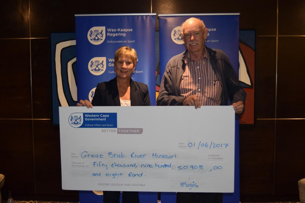 Groot Brak Rivier Museum received annual funding from DCAS at the Museum Symposium