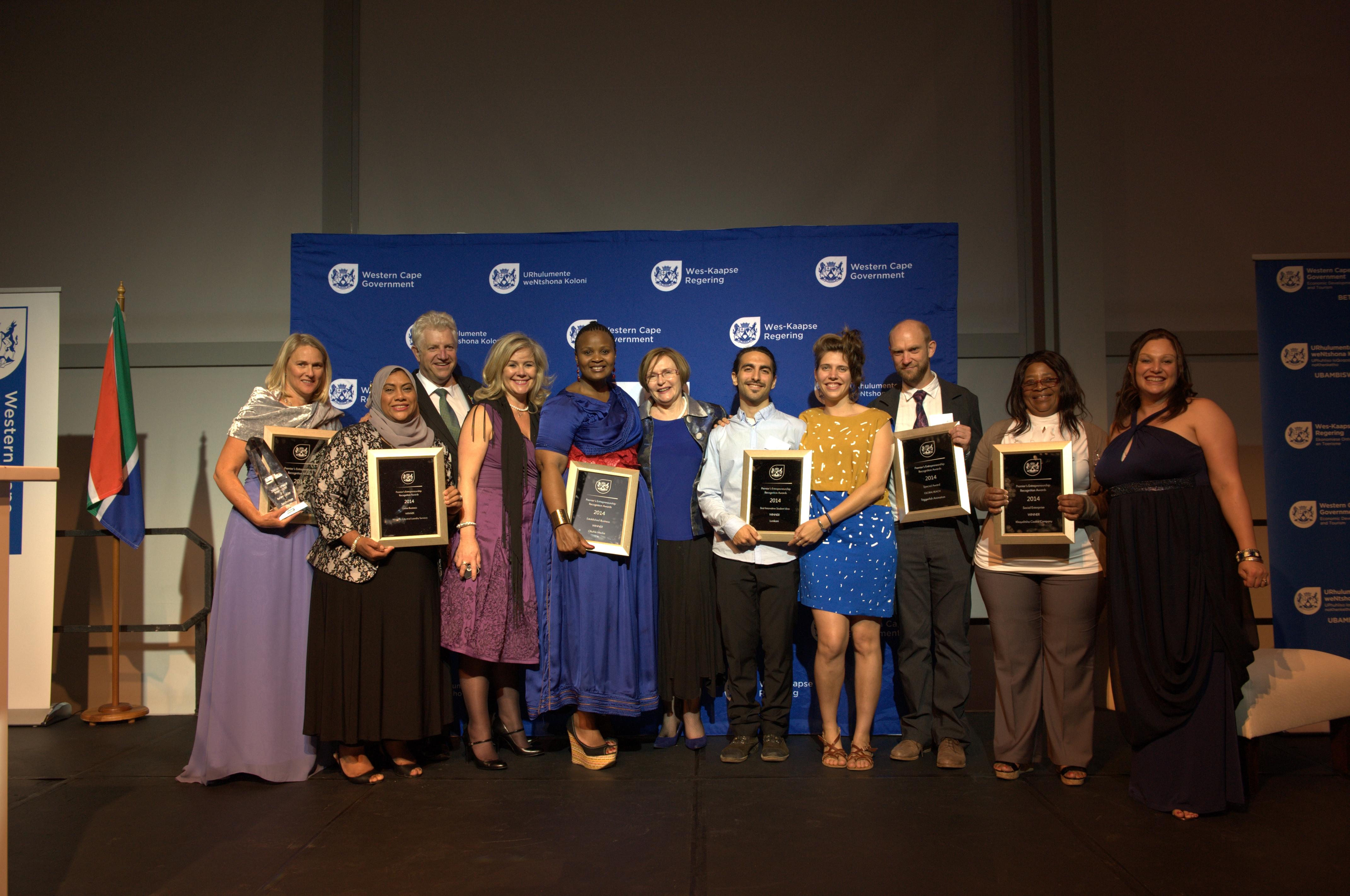 The winners of the 2014 Premier's Entrepreneurship Recognition Awards.