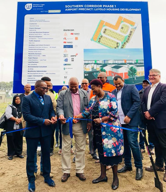 Minister Madikizela launches Airport Precinct Housing Development in Gugulethu