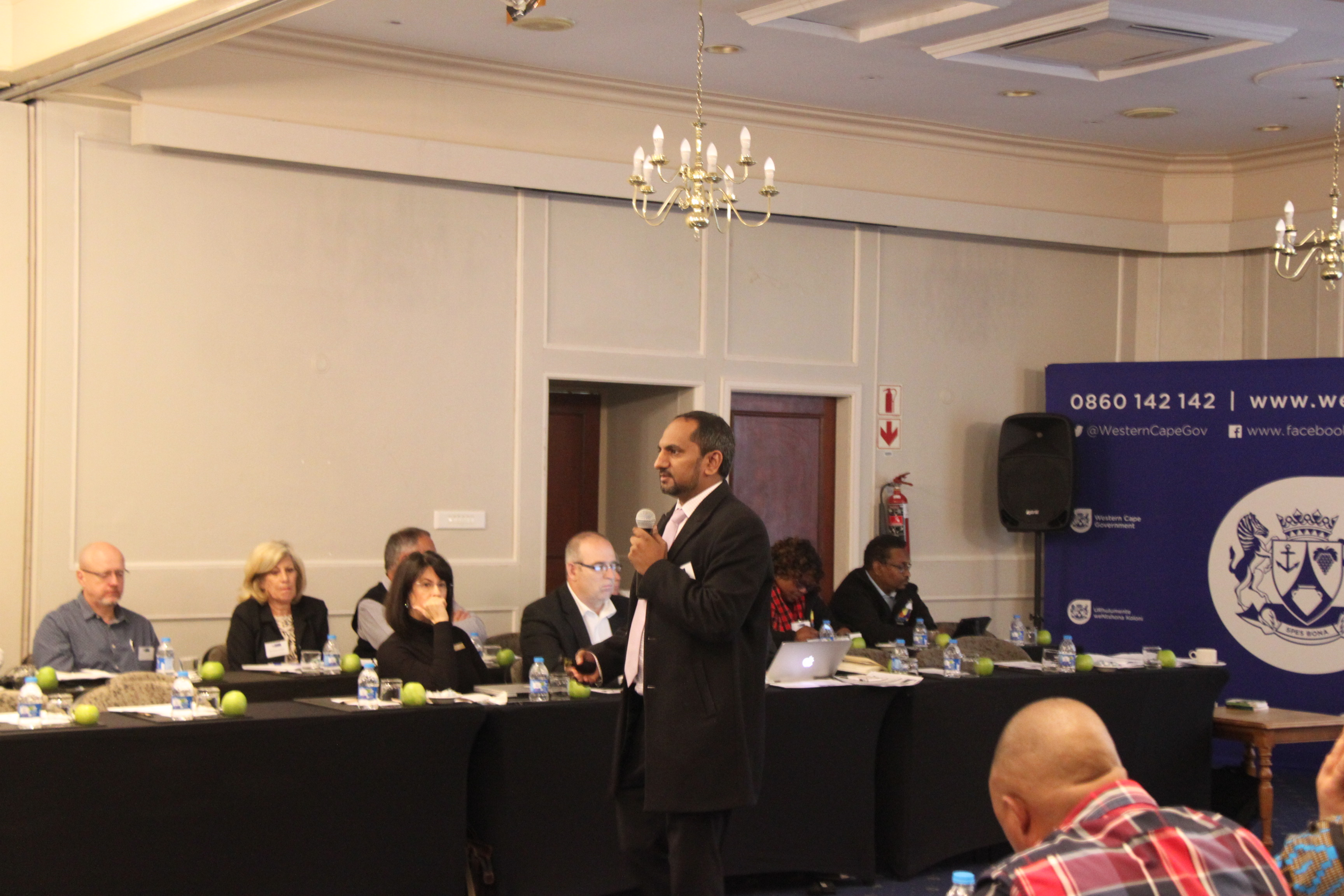 Mr Zakariya Hoosain, Head Official for the Provincial Treasury setting the scene for the workshop and expected outcomes