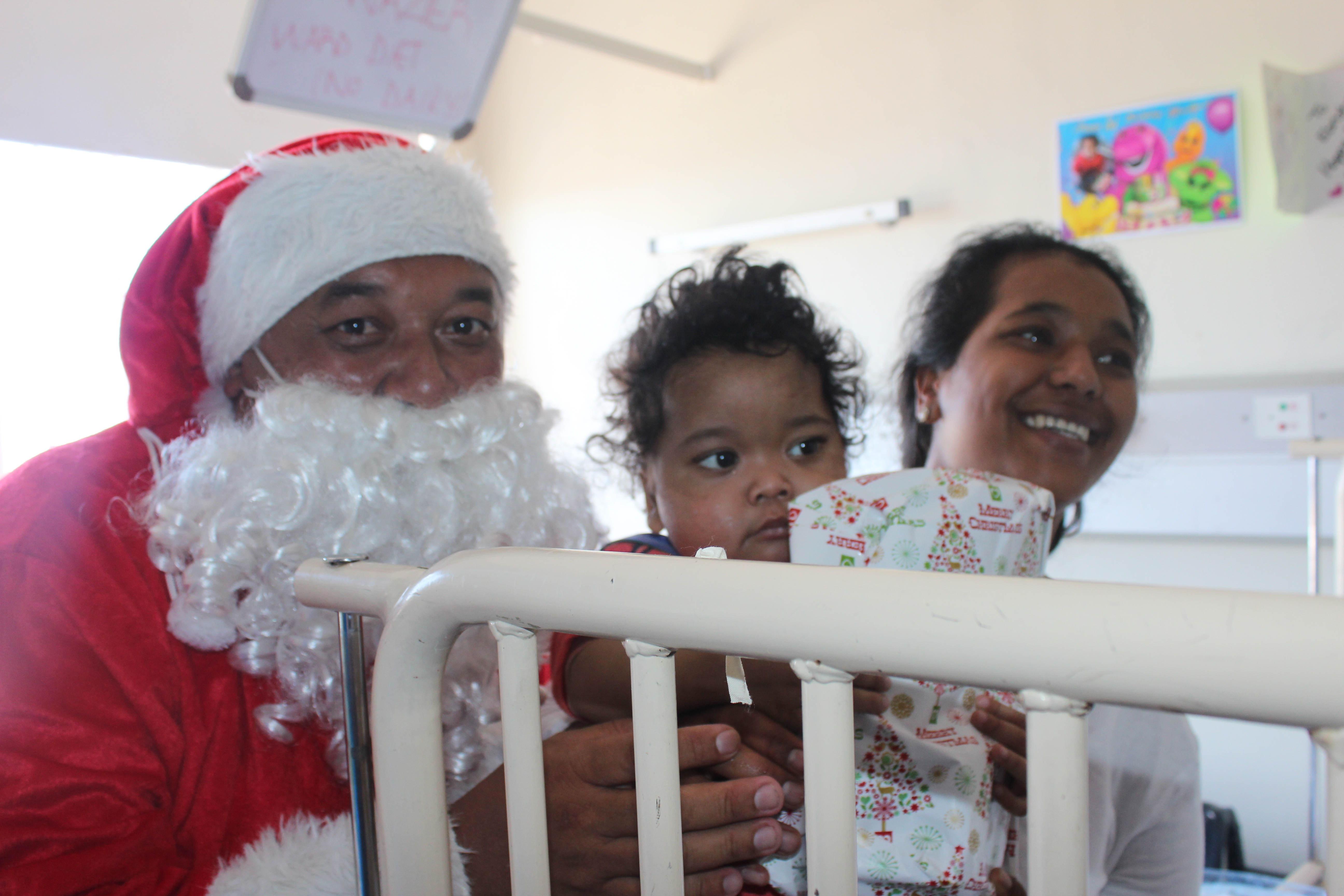 Father Christmas handed out gifts to the patients at Red Cross War Memorial Children's Hospital