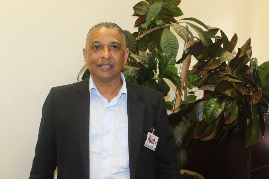 Vincent Rossouw in his office