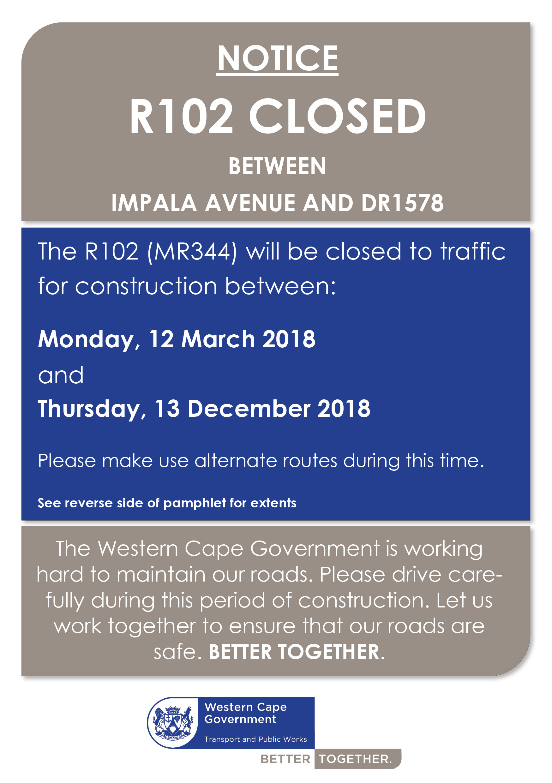 Impala road closures