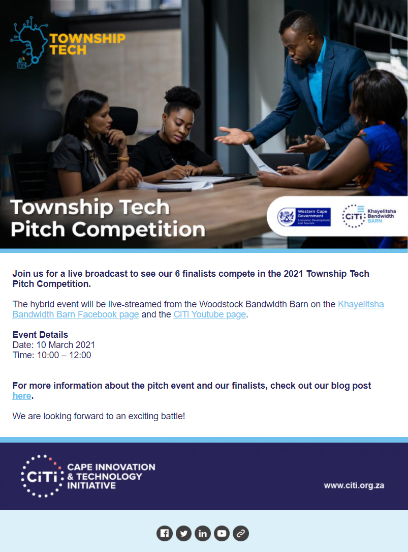 TownshipTech newsletter #3_Pitch competition
