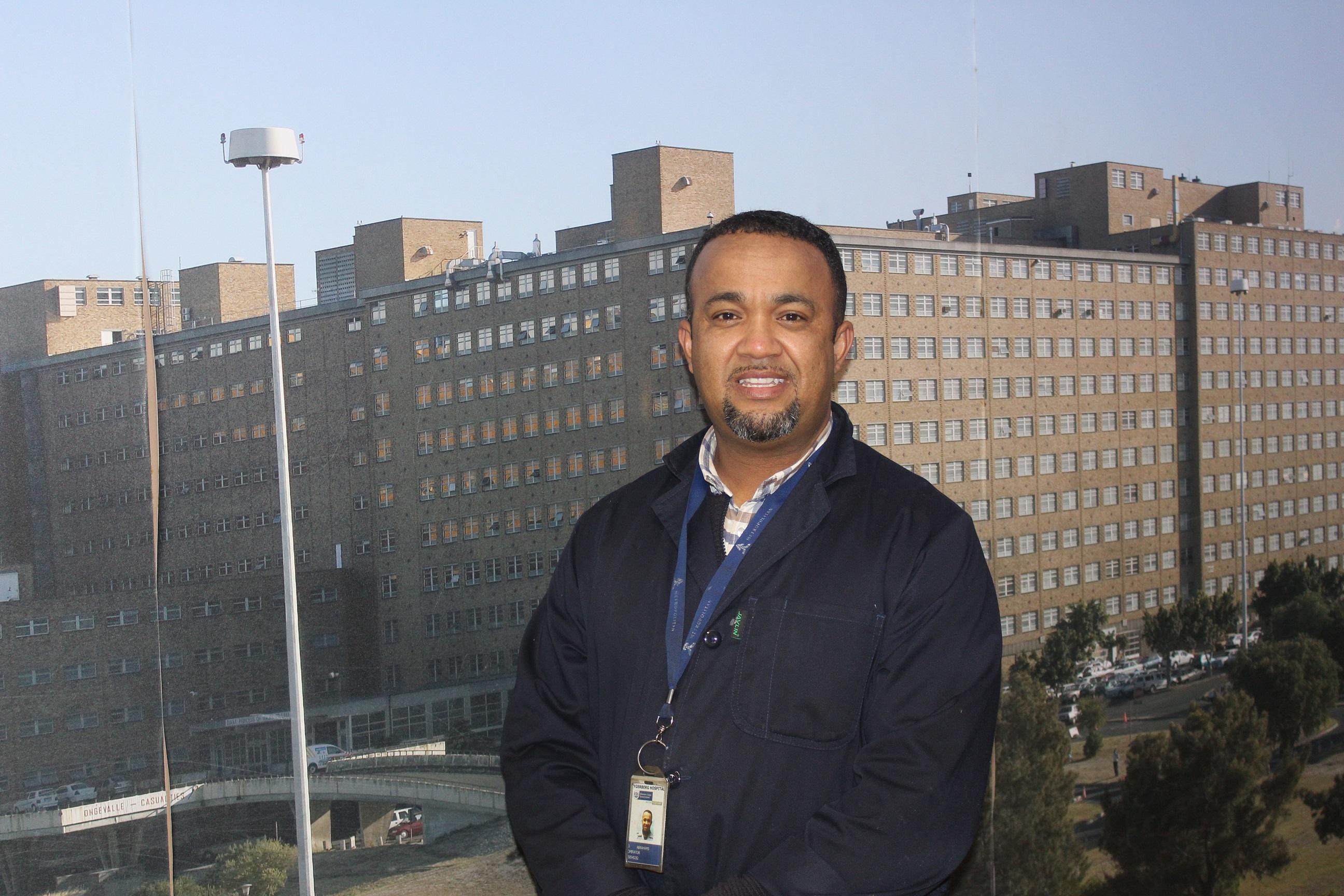 Jonathan Abrahams at Tygerberg Hospital