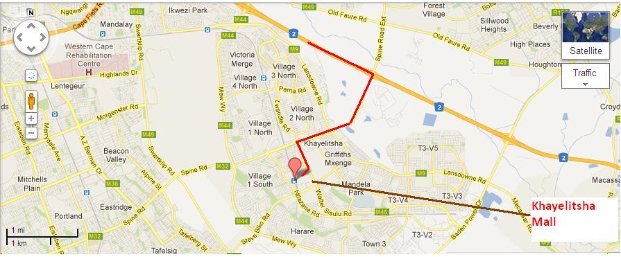 khayelitshastreetmapjpg Western Cape Government